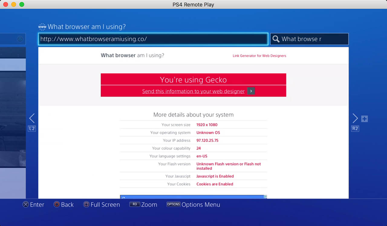 whatbrowseramiusing.co ps4 screenshot