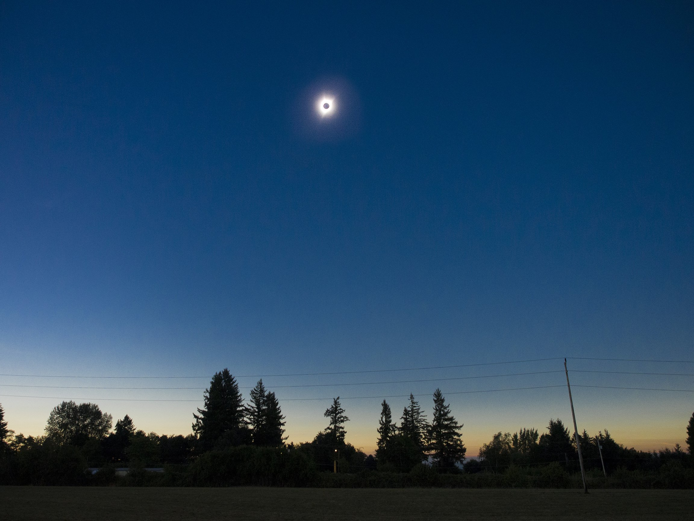Total Eclipse Hubbard Oregon