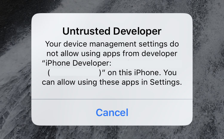 Untrusted Developer