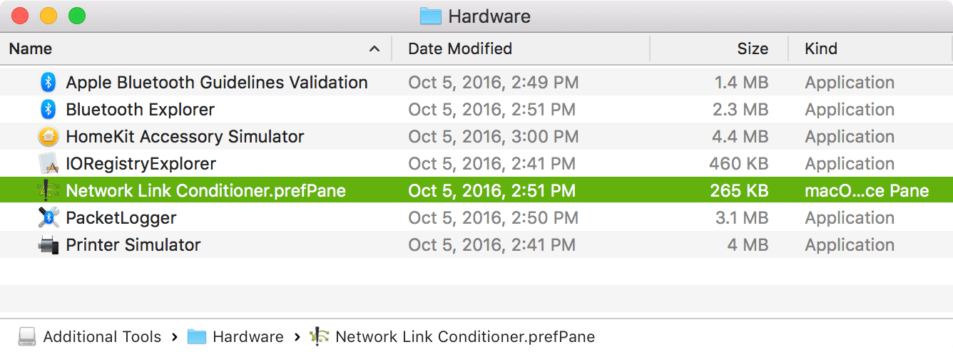 Bandwidth throttling / simulation in macOS (OS X)