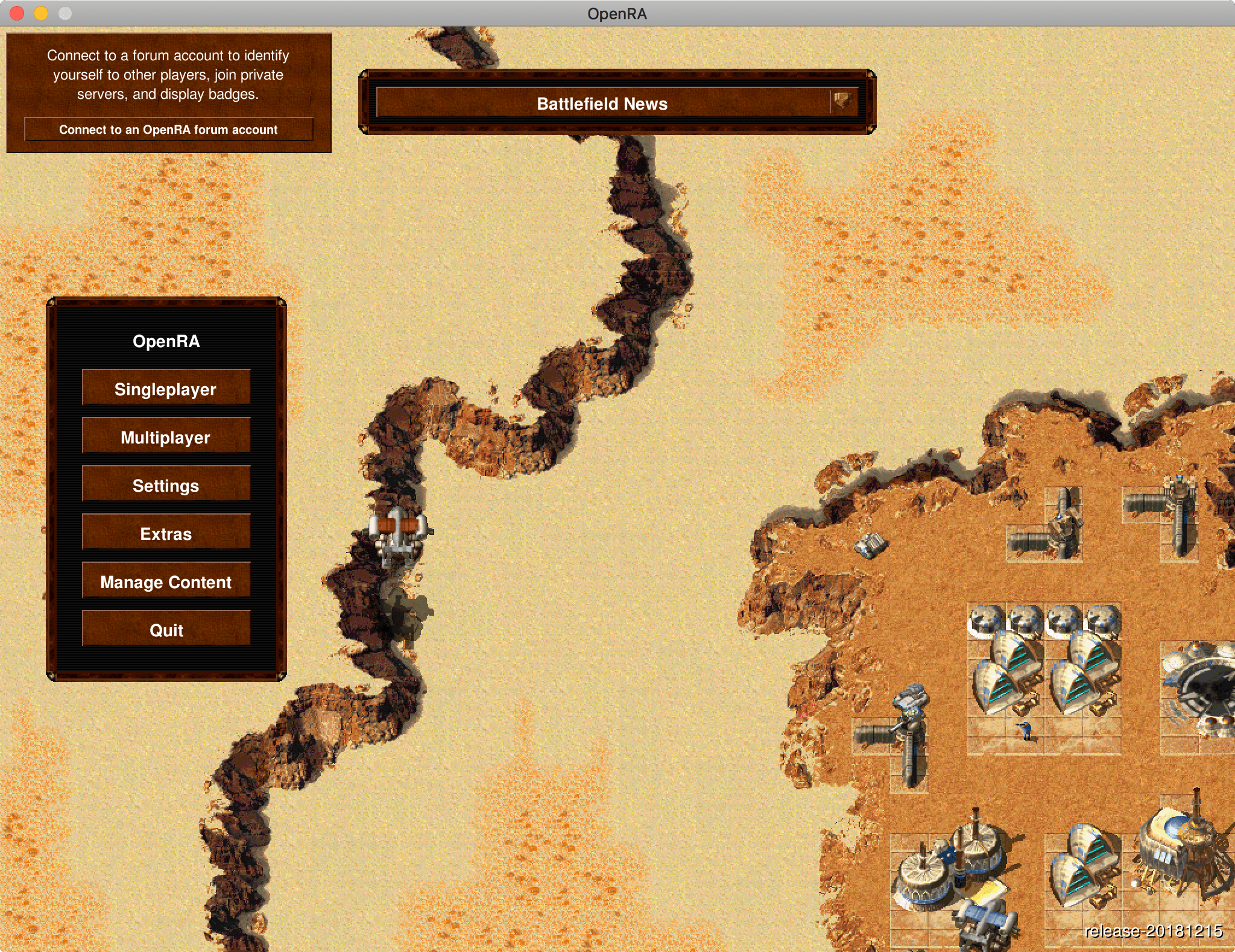 OpenRA Dune 2000 on macOS 10.14