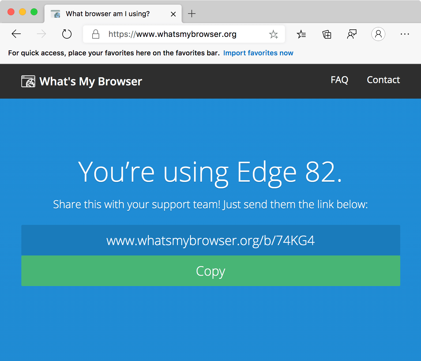 Microsoft Edge on Mac