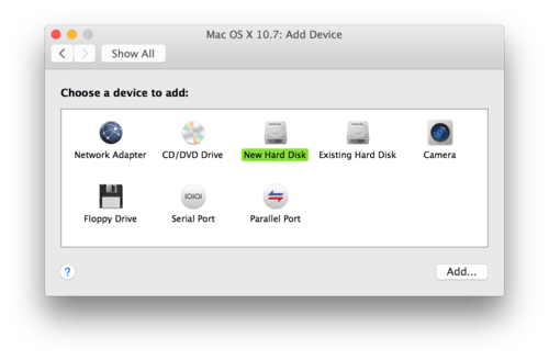 Install an OS from a  vmdk image in VMware Fusion, OS X vmdk