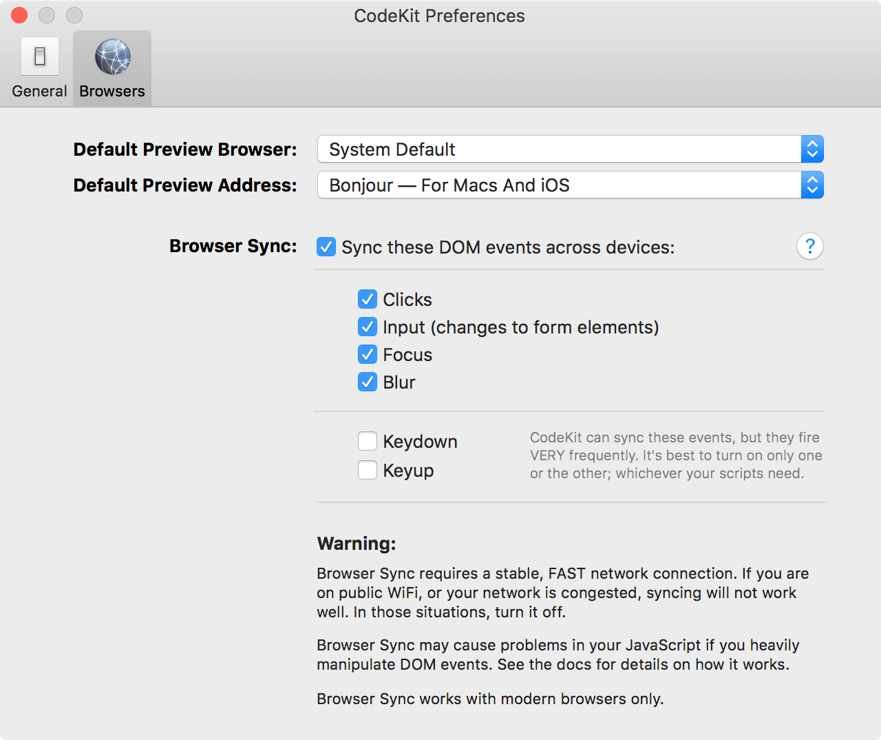 codekit 3's Server Pref